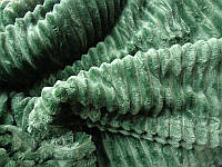 Покрывало плед полоска Шарпей Евро 200х230 см Изумруд