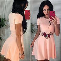 Платье с вышивкой, в расцветках, фото 1