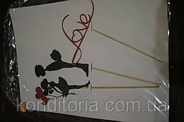 Бумажный декор на праздник LOVE