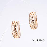 """Серьги Хьюпинг цвет """"золотой"""", длина 1,7см, толщина 5мм"""