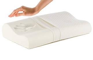 Ортопедическая подушка с памятью ЗДОРОВЫЙ СОН memory pill с профилактикой храпа 30 х 50 см