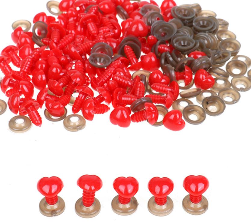 Носик для игрушек, 13х12 мм + крепление, красный