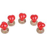 Носик для игрушек, 13х12 мм + крепление, красный, фото 2