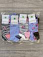 Жіночі шкарпетки короткі бавовна в смужку Montebello з квітками 35-40 12 шт в уп мікс 4 кольорів, фото 3