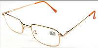 Готовые очки для зрения в металлической оправе.