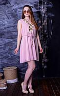Короткое Шифоновое Платье  в Разных Цветах
