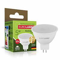 Светодиодная лампа Eurolamp SMD MR16 5W GU5.3 3000K 12V (LED-SMD-05533(12)(P)), фото 1