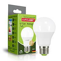 Светодиодная лампа Eurolamp A60 12W Е27 4000K (LED-A60-12274(P)), фото 1