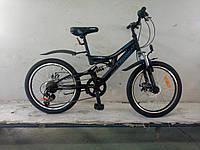 Спортивный горный велосипед Crosser Smart 20 дюймов черно-синий