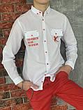 Сорочка з довгим рукавом для хлопчика 140-176см, фото 2