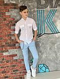 Сорочка з довгим рукавом для хлопчика 140-176см, фото 4