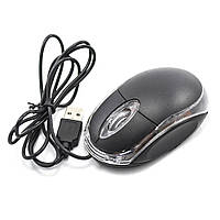 Проводная мышка LESKO для ПК, нетбука, ноутбука, Black