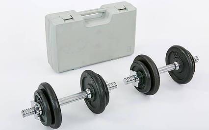 Гантели разборные (2 шт) стальные 20 кг в пласт. кейсе Record TA-7230-20, фото 2