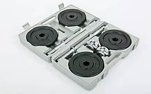 Гантели разборные (2 шт) стальные 20 кг в пласт. кейсе Record TA-7230-20, фото 3