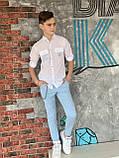 Нежно голубые штаны для мальчика на 110-128см, фото 2