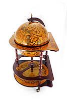 Глобус бар угловой 420мм коричневый 42014R
