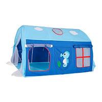 Детская игровая палатка-шатер на колышках (2 входа и 3 окна) для дома и улицы, размер 145-106-91 см арт. 3795