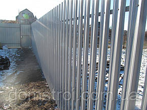 Установка забора из металлического штакетника Харьков, фото 2