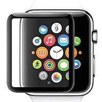 Захисне скло 5D Tempered Glass для Apple Watch 38mm, Black