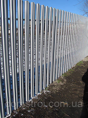 Забор из металлического штакетника под ключ, фото 2