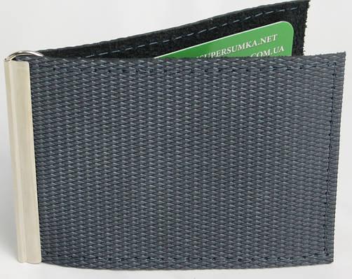 Кожаный зажим для купюр ручной работы Vladymir Pankratov VP200132 серый