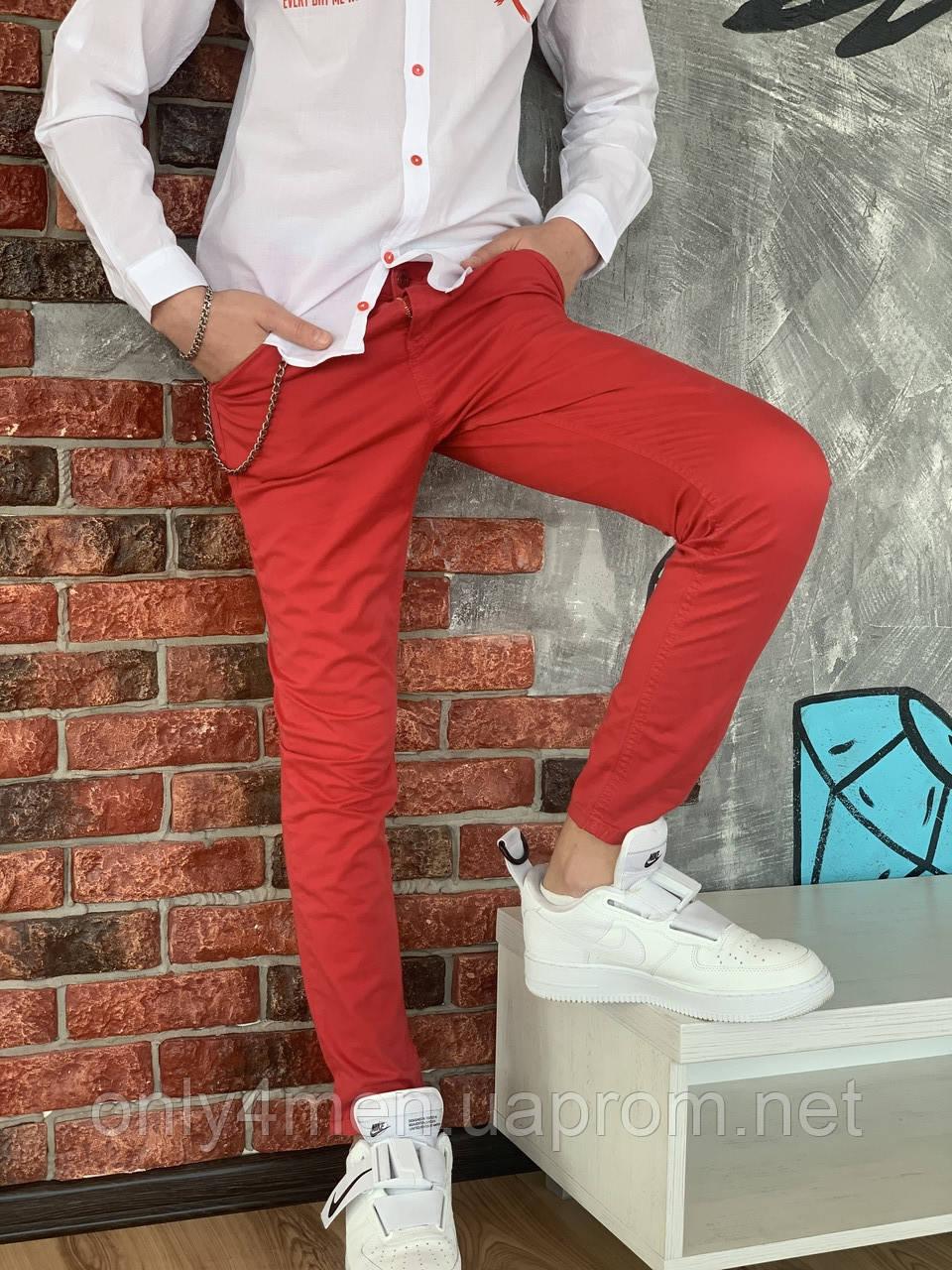 Красные штаны для мальчика на 110-128см