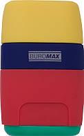 Ластик Buromax RUBBER TOUCH с точилкой (BM.4771)