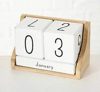 Настольный вечный календарь МДФ 14х7х9см 3113400