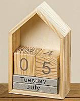 Настольный вечный календарь домик h22см 1004254
