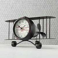 Настольные часы Самолет металл h12см 1018517