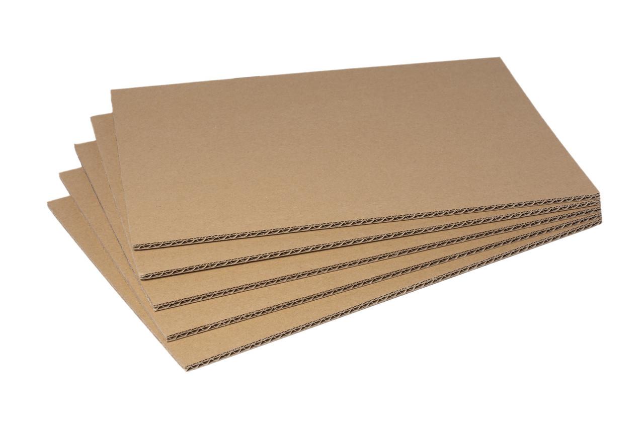 Гофрокартон листовой 800х1200 трехслойный. Паллетная прокладка.