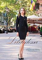 Платье с жакетом черный
