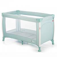 *Детский прямоугольный манеж с аксессуарами от Carrello Polo, Spring Green, размер 23-23-86 см арт. 11601