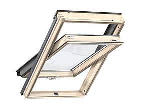 Мансардне вікно двокамерне Velux GLL 1061 B/ GLL 1061 ручка зверху або знизу Двухкамерные окна Велюкс 94*140 см