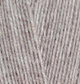 Пряжа Лана голд 800 Alize 207 бежевый меланж