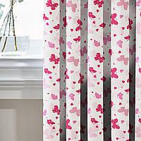 Шторы в Детскую комнату MacroHorizon Бабочки Розовые (MG-DET-160968), 170*135 см