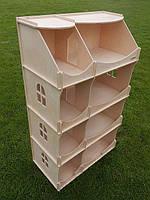 Игровой Кукольный Домик-шкаф для игрушек Hega для дома и улицы (не окрашенный), 60х30х114 см арт. TM Hega*