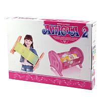 """""""Анюта 2"""" кровать для кукол, (Оригинал)"""