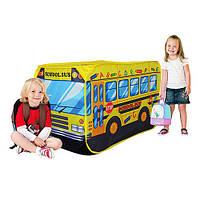 """Детская палатка """"Школьный автобус"""" для дома и улицы, вход - на липучках, окно, размер 110-70-70 см арт. 3319"""