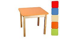 *Детский деревянный цветной стол для творчества (7 цветов) от ТМ Финекс, высота 52 см арт. 021-027