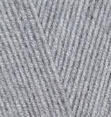 Пряжа Лана голд 800 Alize 21 серый меланж