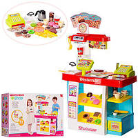 Детский Игровой Набор Магазин-кондитерская с прилавком и кассой, со звуком, 51 деталь красный, арт. 889-73-74