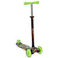 Детский Самокат для детей от 2х лет 3-х колесный, свет. колеса, ABEC-7, руль 63-86 см, Best Scooter, арт. 1391