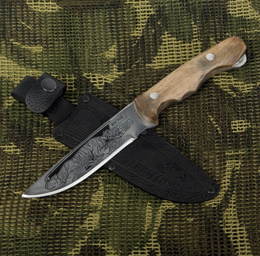 """Охотничий нож Кизляр """"Восток"""" Оригинал с паспортом, чехол кожа, нескладные ножи, ножи для охоты"""