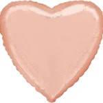 """Фольгований куля """"Серце"""" рожеве золото 45 см, Flexmetal Іспанія"""