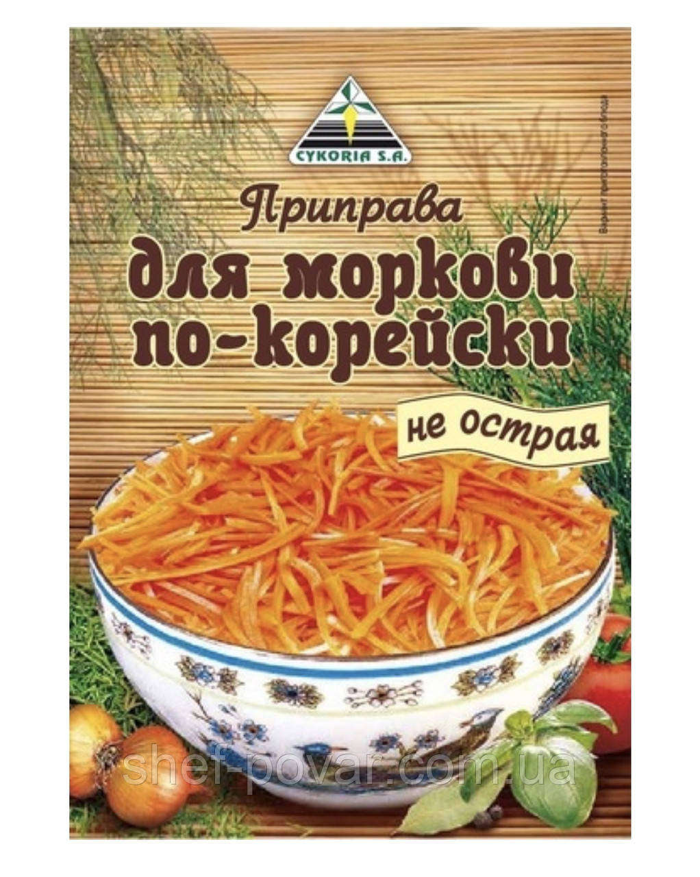"Приправа для моркови по-корейски не острая 20гр  ТМ «Cykoria s. a."""
