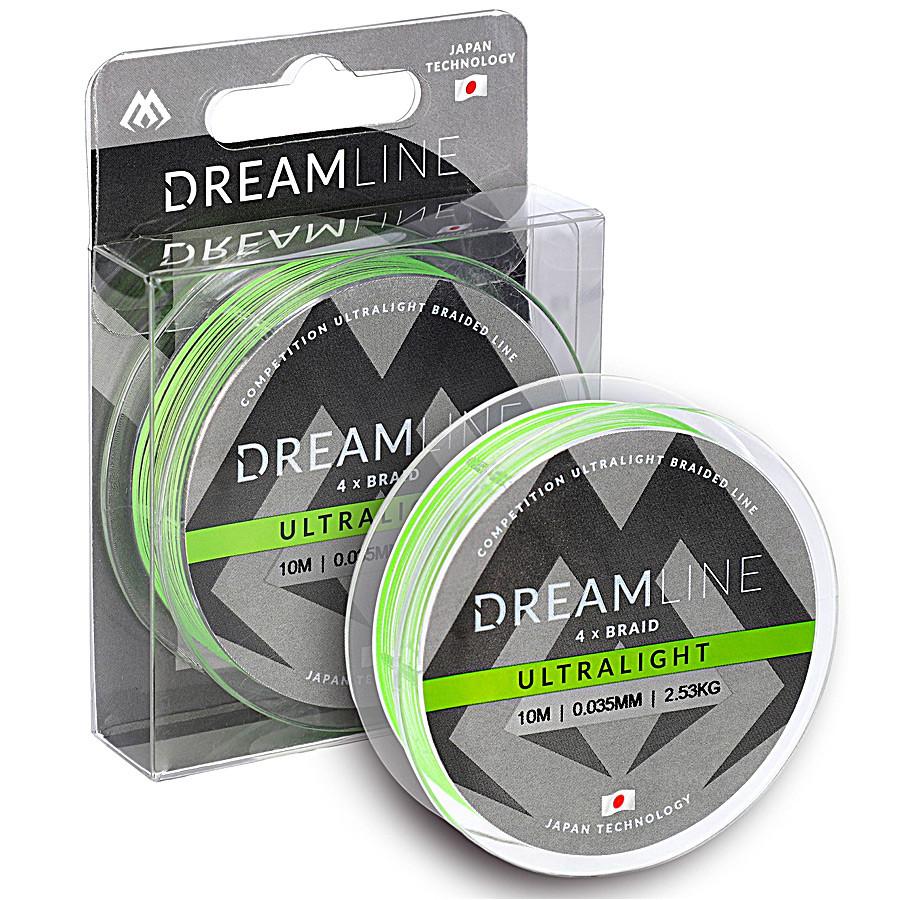 Шнур Mikado Dream Line Ultralight Braid 10м 0,047мм 3,87кг fluo green