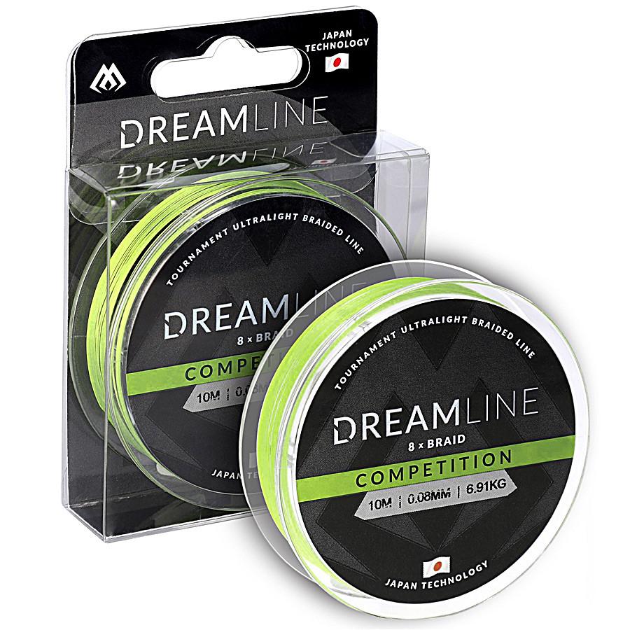 Шнур Mikado Dream Line Competition 10м 0,10мм 8,73кг fluo green