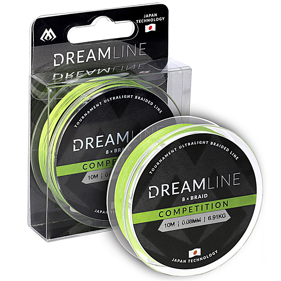 Шнур Mikado Dream Line Competition 10м 0,23мм 23,61кг fluo green