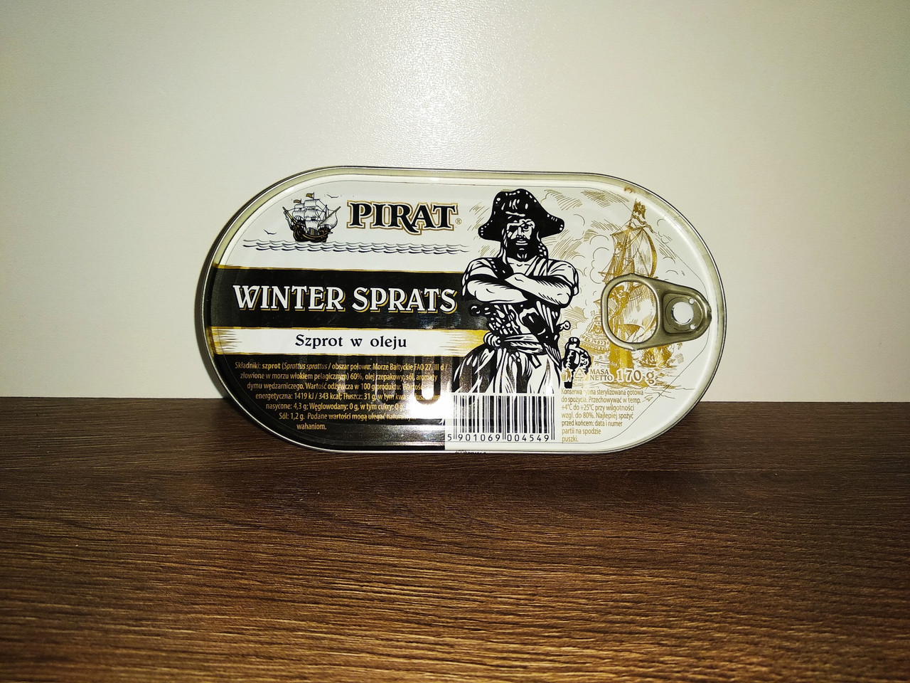 Шпроти в олії  Pirat Winter Sprats 170 гр.